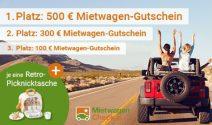 3 x Mietwagen Gutschein im Wert von über CHF 900.- gewinnen