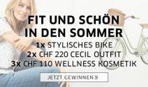 Bike, Cecil Outfit oder Wellness Kosmetik gewinnen