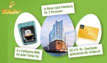 Hamburg Wochenende, Kaffeemaschine oder Tchibo Gutscheine gewinnen