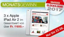 3 x iPad Air 2 gewinnen