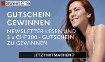 3 x Street One Gutschein im Wert von CHF 900.- gewinnen