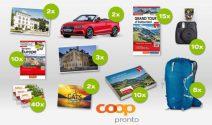 Ferien, Kamera Sets, Grand Tour of Switzerland Tickets und vieles mehr gewinnen