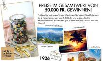 Reisegutscheine und vieles mehr im Wert von CHF 50'000.- gewinnen
