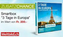 Smartbox «Drei Tage in Europa» gewinnen
