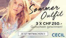 3 x Cecil Gutschein im Wert von CHF 750.- gewinnen