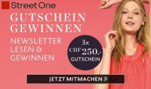 3 x Street One Gutschein im Wert von CHF 750.- gewinnen