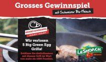 5 x Big Green Egg Grill im Wert von CHF 4'629.- gewinnen