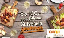 5 x COOP Gutschein im Wert von CHF 500.- gewinnen