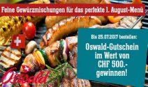 Oswald Gutschein im Wert von CHF 500.- gewinnen