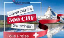 CHF 500.- Ackermann Gutschein oder 10 x Schweiz Set gewinnen