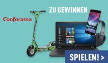 Laptop, Smartphone, Headset und mehr gewinnen