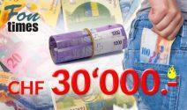 CHF 30'000.- gewinnen