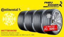 Continental Winterreifen im Wert von CHF 500.- gewinnen