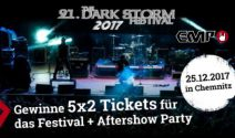 5 x 2 Dark Storm Festival Tickets inkl. Aftershow Party gewinnen