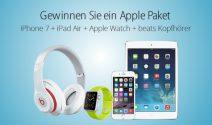 iPhone 7, iPad Air, Apple Uhr sowie Beats Kopfhörer gewinnen