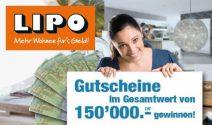 Lipo Gutschein im Wert von CHF 150'000.- gewinnen