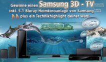 Samsung 3D TV, PS4, Wii U und vieles mehr gewinnen