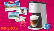 CHF 15'000.- Hotelplan Gutschein oder 500 x Delizio Kaffeemaschine gewinnen