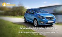 Opel Karl im Wert von CHF 13'350.- gewinnen