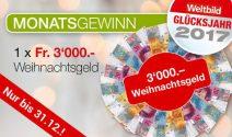 Weihnachtsgeld im Wert von CHF 3'000.- gewinnen
