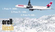 3 x Swiss Gutschein im Wert von CHF 5'000.- gewinnen