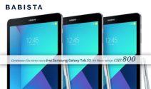 3 x Samsung Galaxy Tab S3 gewinnen