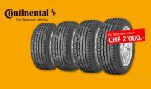 Continental Sommerreifen im Wert von CHF 2'000.- gewinnen
