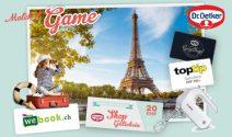 Paris Reise im Wert von CHF 1'500.- und vieles mehr gewinnen