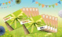 10 x Coop Gutschein im Wert von CHF 1'000.- gewinnen