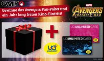 2 x Avengers Goodie Set inkl. Kino Jahresabo gewinnen