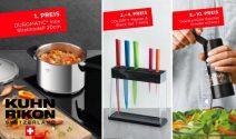Duromatic Schnellkochtopf, Messer Set und mehr gewinnen