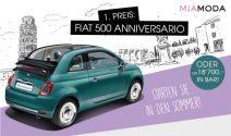 Fiat 500 oder CHF 18'700.- in bar und mehr gewinnen