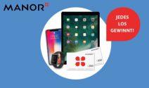 iPad Pro, iPhone X, Apple Watch oder Manor Gutscheine gewinnen