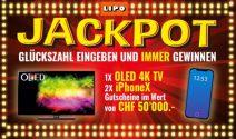 OLED 4K TV, iPhone X sowie CHF 50'000.- Gutscheine gewinnen