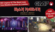 1 x 2 Iron Maiden Tickets inkl. Flug und Unterkunft in London gewinnen