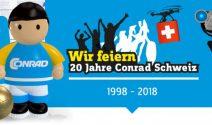 10 x Conrad Gutschein im Wert von CHF 1'000.- und mehr gewinnen