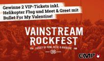 2 x Vainstream Rockfest VIP Tickets inkl. Helikopter Flug und mehr gewinnen
