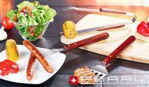 3-teiliges Edelstahl Grillbesteck von Pearl gratis erhalten