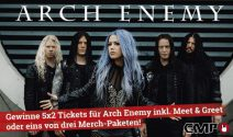 5 x 2 Arch Enemy Tickets, Meet & Greet sowie Goodies gewinnen