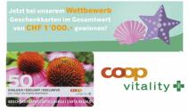 Coop Vitality Geschenkkarten im Wert von CHF 1'000.- gewinnen