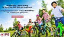 Kindervelo und Ausrüstung im Wert von CHF 500.- gewinnen