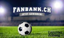 Fanbank Platz für das Spiel FCL gegen GC Zürich gewinnen