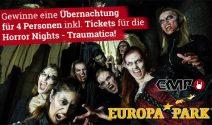 4 x Europapark Ferien inkl. Traumatica Tickets gewinnen