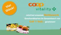 Coop Vitality Gutscheine im Wert von CHF 1'000.- gewinnen