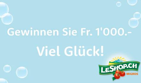 CHF 1'000.- in Bar gewinnen