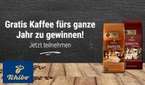 Einen Jahresvorrat an Tchibo Barista Kaffee & Tchibo Gutschein gewinnen