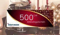 Bosch Küchenmaschine & CHF 500.- Ackermann Gutschein gewinnen
