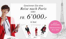 Eine Reise nach Paris oder CHF 6'000.- in bar gewinnen