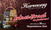 Einen Jahresvorrat Tierfutter von Harmony gewinnen