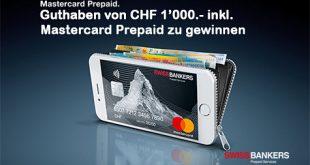 Guthaben in Wert von CHF 1'000.- inkl. Mastercard Prepaid gewinnen